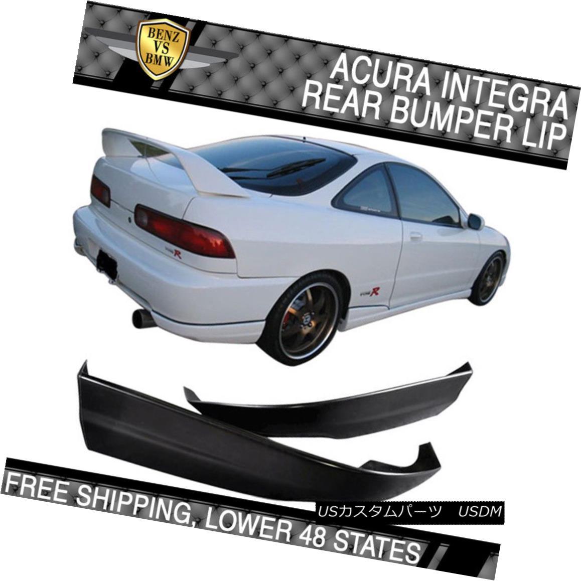 Poly Urethane Rear Bumper Lip Spoiler Bodykit Fits 98-01 Acura Integra