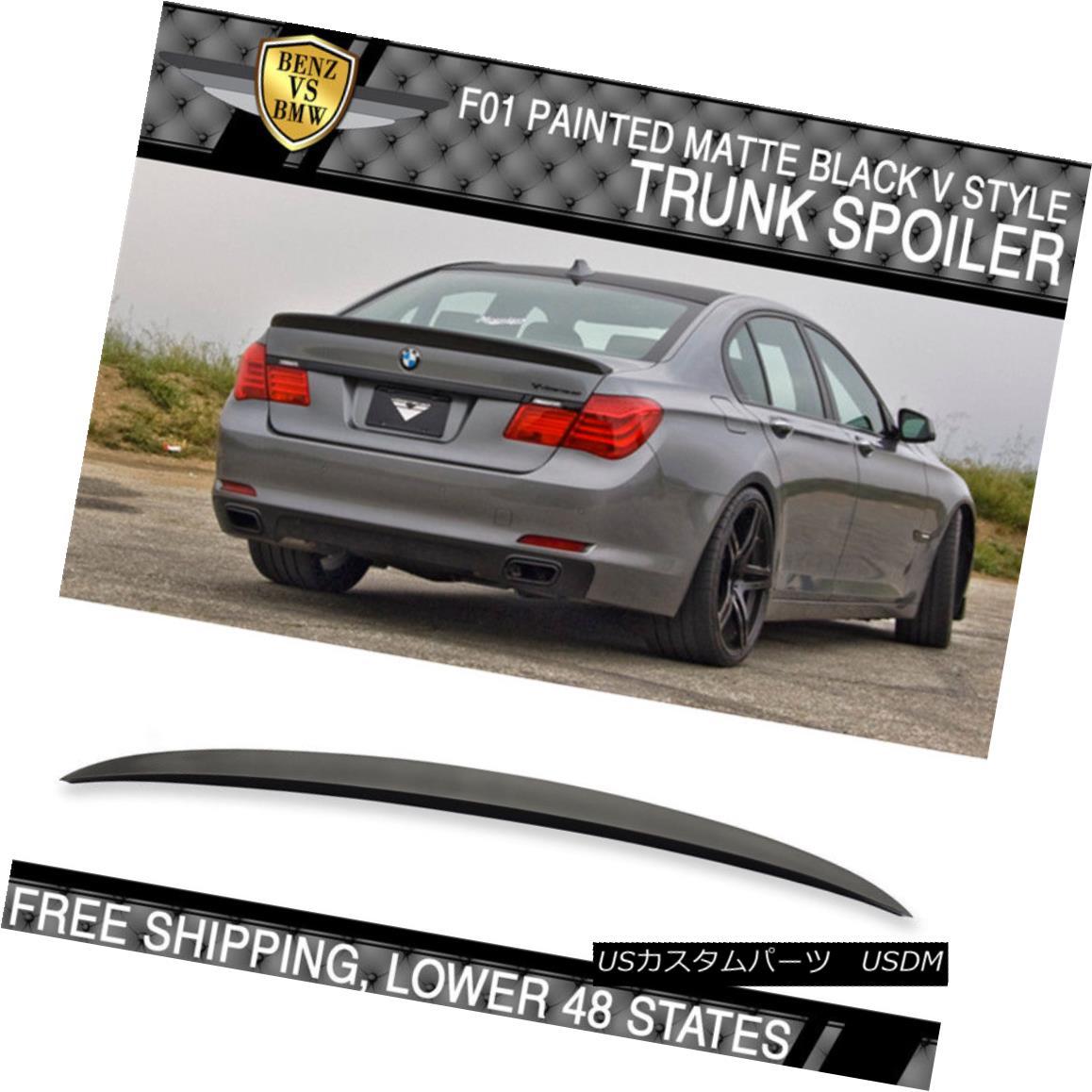 Painted BMW F01 F02 Sedan 7-Series D Type Trunk Spoiler 2015 Color #475