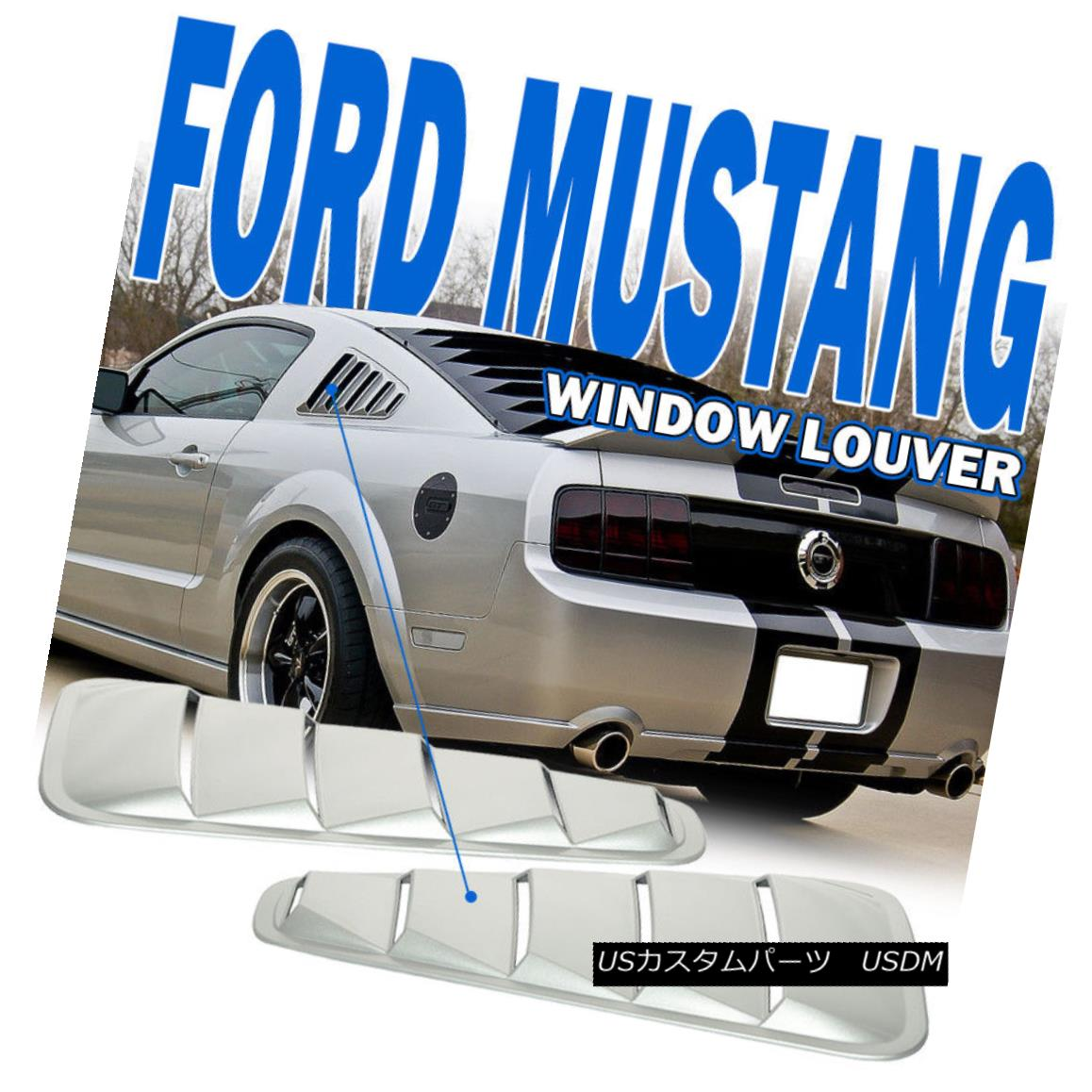 Fit For 05-09 Ford Mustang Quarter Window Louver 5 Vents ABS Rear /& Side