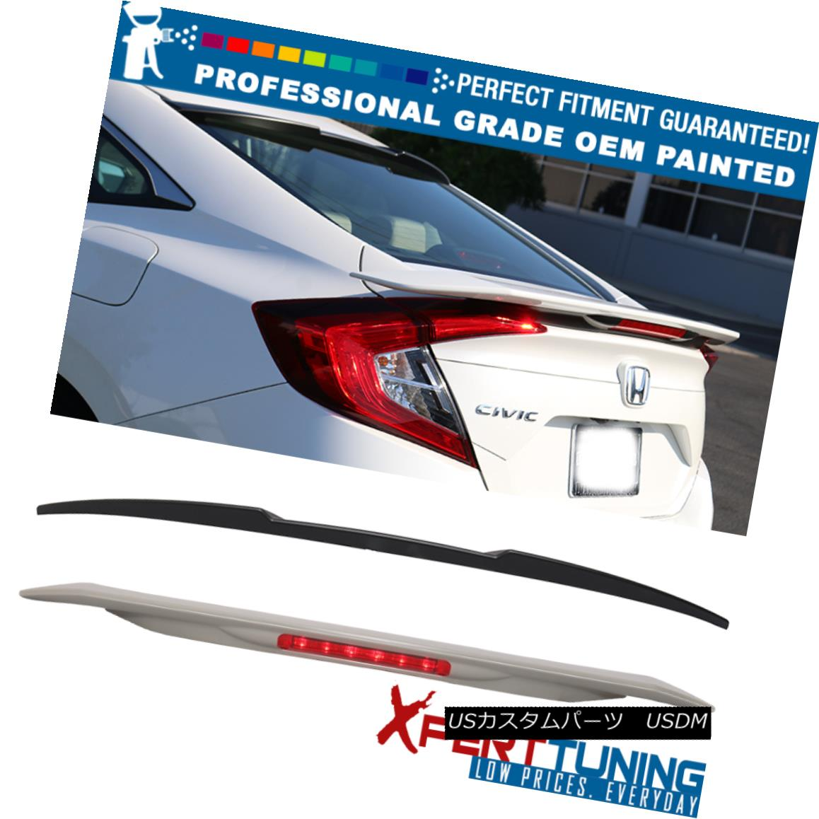 NEW PAINTED ALL COLOR 2018 for HONDA ACCORD 10th SEDAN K-STYLE ROOF SPOILER