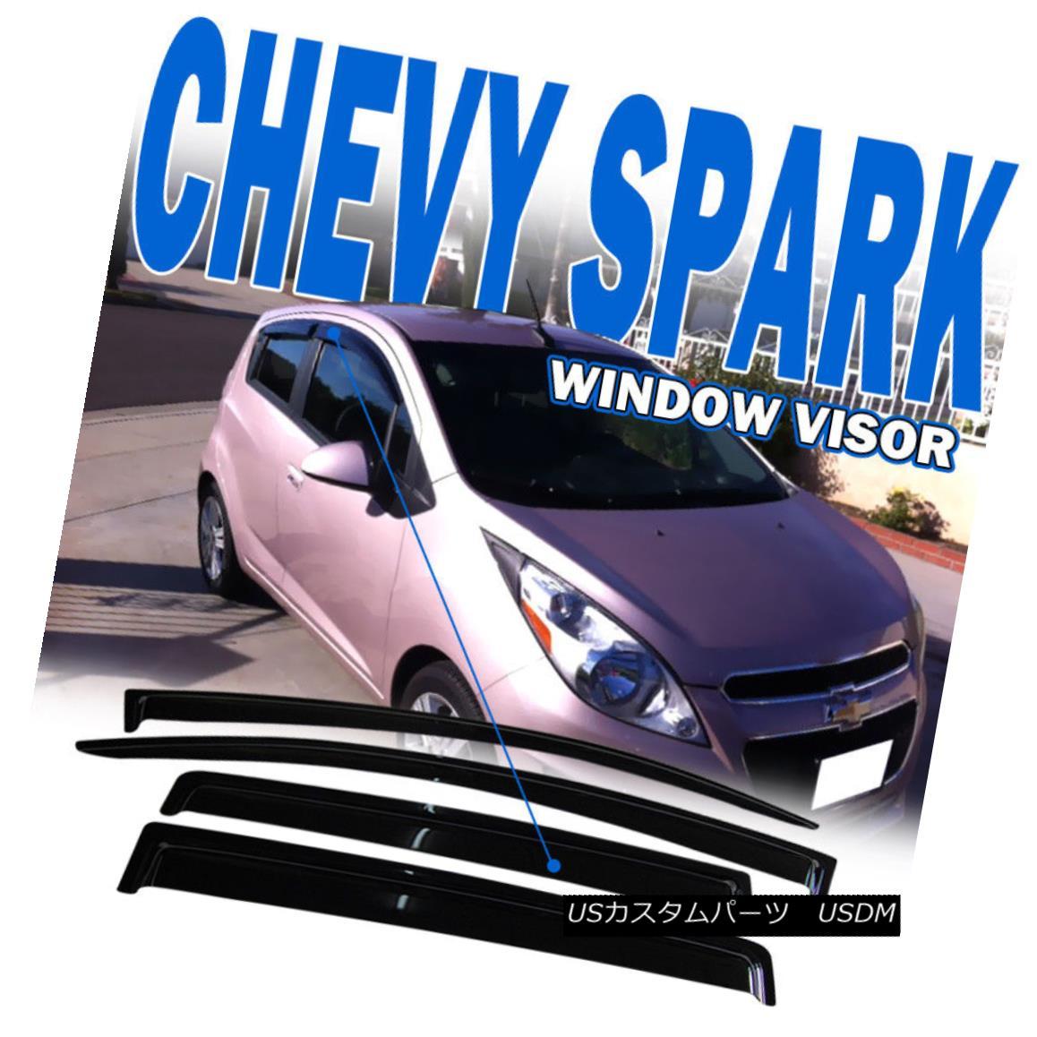For 13-15 Chevy Spark Hatchback Sedan Acrylic Window Visors 4Pc Set