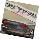 エアロパーツ Silver Chrome 35 TFSI emblem sticker for Audi A3 A4 A5 A6 A7 A8 Q3 Q5 Q7 ◎ アウディA3 A4 A5 A6 A7 A8 Q3 Q5 Q7のシルバークローム35 TFSIエンブレムシール?