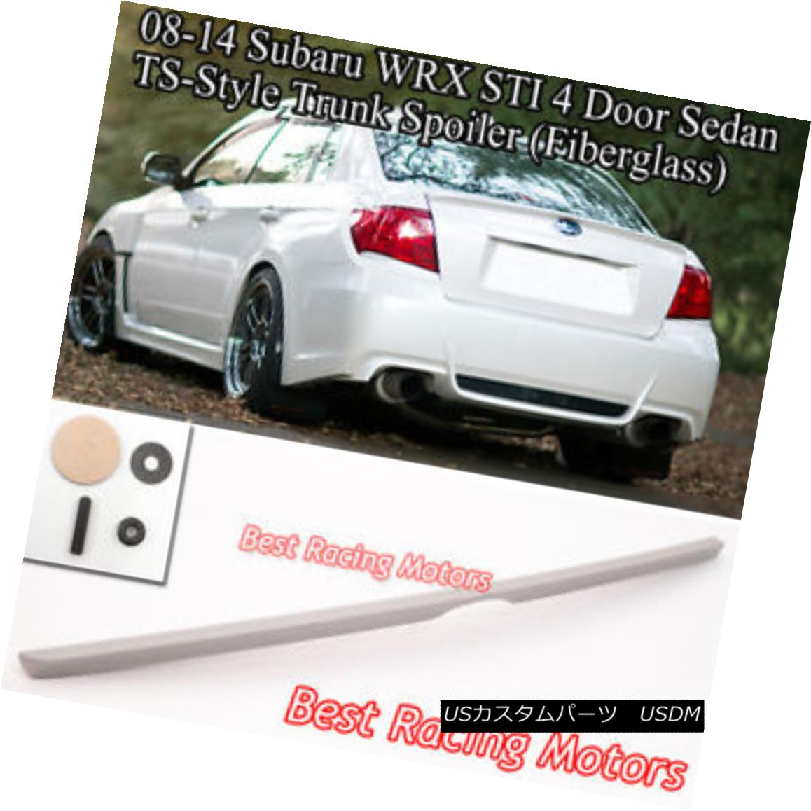 UNPAINTED 2008-2009 Pontiac G8 4D Sedan Rear Window Visor Roof Spoiler Wings