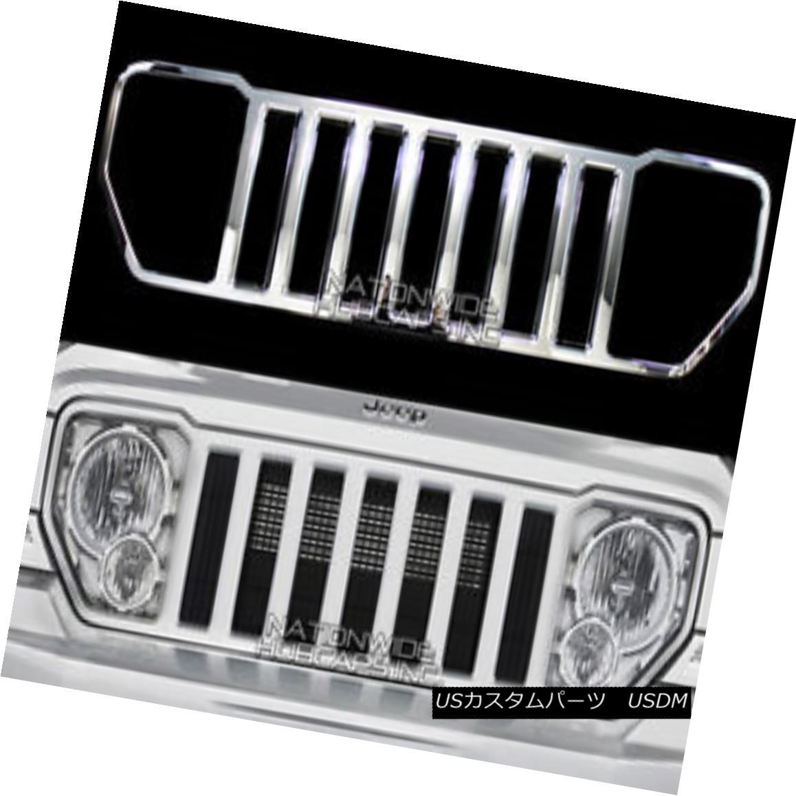 usグリル オンライン 08 13 jeep liberty chrome snap on grille overlay