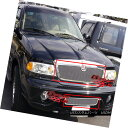 USグリル Fits 2003-2006 Lincoln Navigator Stainless Mesh Grille Combo フィッ...