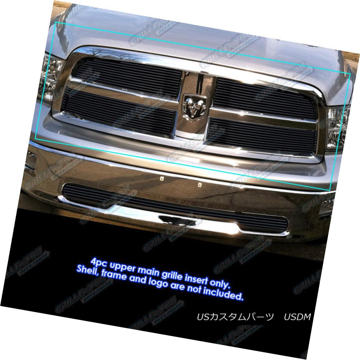 APS Compatible with 2009-2012 Dodge Ram 1500 Black Billet Grille Grill Insert S18-H31666D