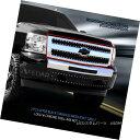 USグリル 07-13 Chevy Silverado 1500 Black Stainless Mesh Rivet Grille Upp...