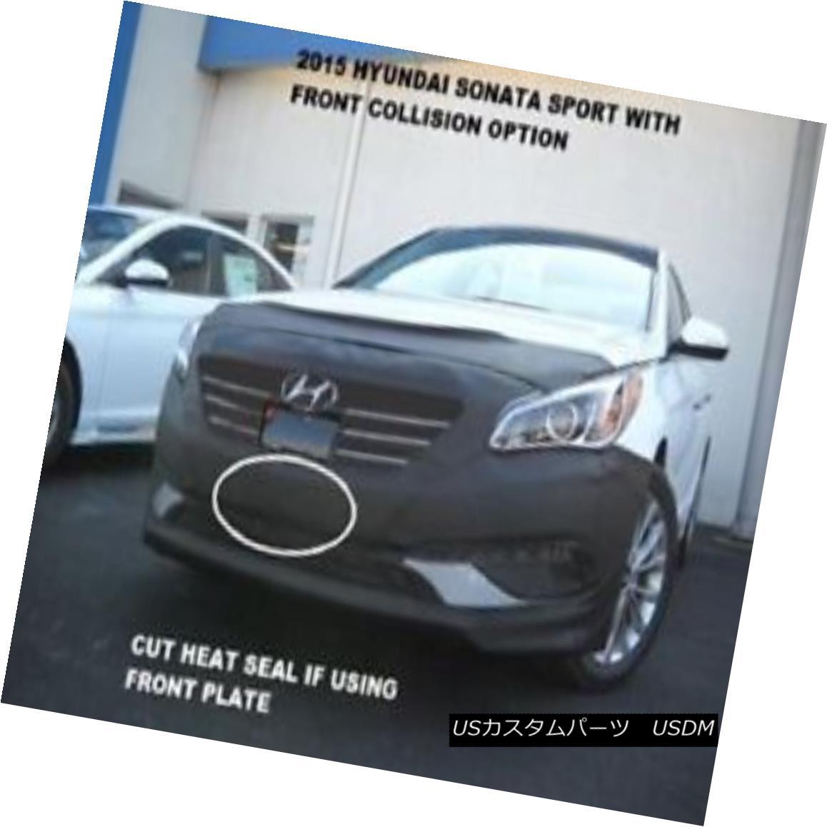 Car Mask Bra Lebra 2 piece Front End Cover Black Fits 2015 Hyundai Sonata