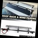 """カーゴ ルーフ キャリア レールタワールーフトップアジャスタブルマウント48インチクロスバーラック+ SRX用ウィンドフェアリング Rail Tower Roof Top Adjustable Mount 48"""" Crossbar Rack +Wind Fairing For SRX"""