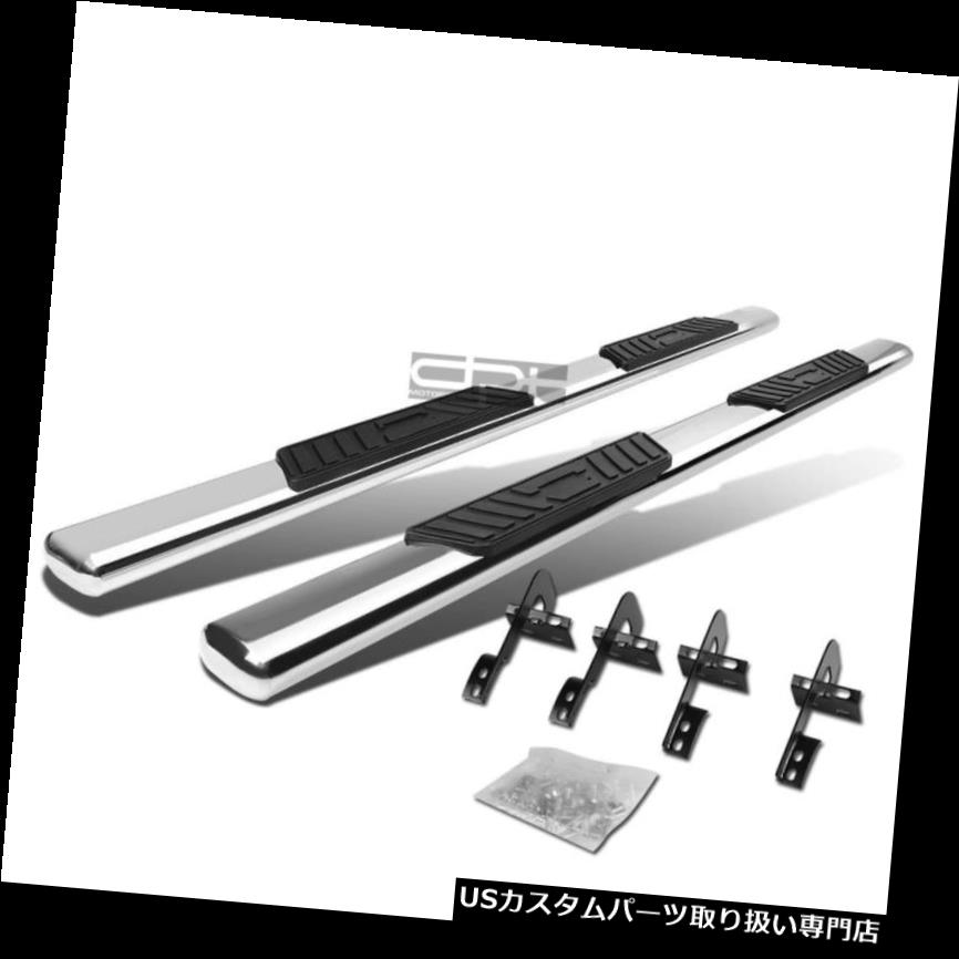 For Ford F150 Super Cab 4 inches Oval Side Step Nerf Bar Running Board Chrome