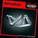 トライク カバー Kuryakynルーバークロームバッテリーボックスカバー01 ' - 10 GL1800トライク3914 Kuryakyn Louvered Chrome Battery Box Covers 01-'10 GL1800 Trike 3914