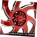 海外輸入ホイール 20x10オフロードモンスターM07 8x6.5 / 8x165.1 -19キャンディアップルレッドホイールリムセット(4) 20x10 Off-Road Monster M07 8x6.5/8x165.1 -19 Candy Apple Red Wheels Rims Set(4)