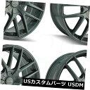 海外輸入ホイール 20x8.5 Touren TR60 5x112 / 5x120 40ガンメタルホイールリムセット(4) 20x8.5 Touren TR60 5x112/5x120 40 Gunmetal Wheels Rims Set(4)