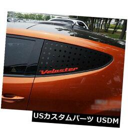 ドアピラー 11 17 Hyundai Veloster&amp; 11用ウィン<strong>ドウグラス</strong>スポーツCピラープレートブラックレッド ターボ Window Glass Sports C Pillar Plate Black Red For 11 17 Hyundai Veloster & Turbo