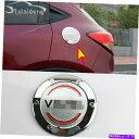 GAS TANK FUEL ホンダ・ヴェゼルHR-V 2016-2020 ABSクローム燃料ガスタンクキャップカバープロテクタートリムのために For Honda Vezel HR-V 2016-2020 ABS Chrome Fuel Gas Tank Cap Cover Protector Trim