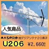 地デジ UHFアンテナ マスプロ 20素子 U206