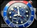 逆輸入SEIKO Solar クロノ セイコー メンズ腕時計 ソーラー DIVER's200m防水 ssc031p1