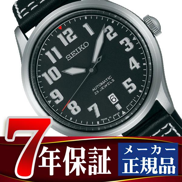 【SEIKO SPIRIT SMART】セイコー スピリットスマート ナノ・ユニバース nano・universe コラボ 限定モデル 自動巻き メカニカル メンズ 腕時計 ブラック SCVE045