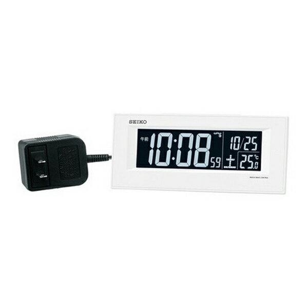 【SEIKO CLOCK】セイコークロック製セイコー SEIKO 電波交流式デジタル 目覚まし時計 DL209W ホワイト