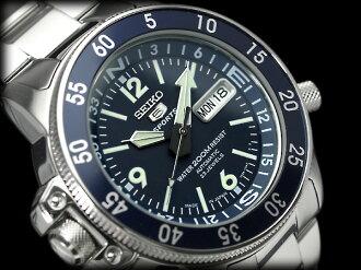 Seiko 5 sports divers watch ブルーアトラス automatic self-winding watch blue dial metal belt SKZ209J1