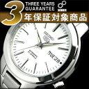 【逆輸入SEIKO5】セイコー5 メンズ自動巻き腕時計 ホワイトダイアル シルバーステンレスベルト SNKA01K1 【AYC】