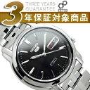 【逆輸入SEIKO5】セイコー5 メンズ自動巻き腕時計 ブラックダイアル シルバーステンレスベルト SNKK71K1