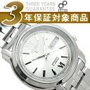 【逆輸入SEIKO5】セイコー5 メンズ自動巻き腕時計 ホワイトシルバーダイアル シルバーステンレスベルト SNKK77K1 【AYC】