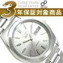 【逆輸入SEIKO5】セイコー5 メンズ自動巻き腕時計 つや消しベゼル シルバーダイアル ステンレスベルト SNX993K1 【AYC】