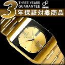【日本製逆輸入SEIKO5 DRESS】セイコー5ドレス メンズ 自動巻き腕時計 オールゴールド ポイントインデックス ゴールドダイアル ゴールドステンレスベルト SNY012J1【AYC】