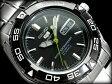 【日本製逆輸入SEIKO5SPORTS】セイコー5 メンズ自動巻き腕時計 IPブラックベゼル ギョーシエブラックダイアル シルバーステンレスベルト SNZB23J1