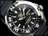 【日本製逆輸入SEIKO5SPORTS】セイコー5 メンズダイバーズ自動巻き腕時計 IPブラックベゼル シルバーケース ブラックダイアル ブラックウレタンベルト SNZE81J2【あす楽】
