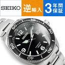 【逆輸入 SEIKO】セイコー クロノグラフ キネティック メンズ 腕時計 ブラックダイアル ステンレスベルト SKA747P1【AYC】