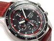 【正規品 逆輸入 SEIKO】セイコー クォーツ 高速クロノグラフ メンズ 腕時計 ブラックダイアル ブラウン レザーベルト SNDF45P1 SNDF45PC SNDF45