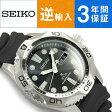 【逆輸入SEIKO】セイコー メンズ腕時計 ダイバーズ ソーラー ブラックダイアル ウレタンベルト SNE107P2【あす楽】