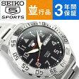 【日本製逆輸入 SEIKO5】セイコー5 スポーツ メンズ 自動巻き式腕時計 ブラックダイアル ステンレスベルト SRP755J1 【AYC】