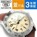 【動画あり】【3年保証】【送料無料】SEIKO5 SPORTS セイコー5スポーツ オートマチック 機械式 メンズ腕時計 SRP757K1