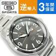 【逆輸入 SEIKO5 SPORTS】自動巻き 手巻き付き機械式 メンズ 腕時計 ガンメタルダイアル ステンレスベルト SSA291K1 【AYC】