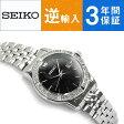 【逆輸入 SEIKO】セイコー クォーツ レディース腕時計 ブラックダイアル シルバーステンレスベルト SUR733P1