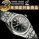【日本製逆輸入SEIKO5】セイコー5 レディース自動巻き腕時計 ブラック×レッド グレーダイアル シルバーステンレスベルト SYMA43J1