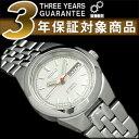【日本製逆輸入SEIKO5】セイコー5 レディース自動巻き腕時計 ホワイトダイアル ステンレスベルト SYMG49J1【AYC】