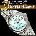 【日本製逆輸入SEIKO5】セイコー5 レディース自動巻き腕時計 ライトブルーダイアル ステンレスベルト SYMG51J1