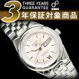 【日本製逆輸入SEIKO5】セイコー5 レディース自動巻き腕時計 ピンクダイアル ステンレスベルト SYMG75J1