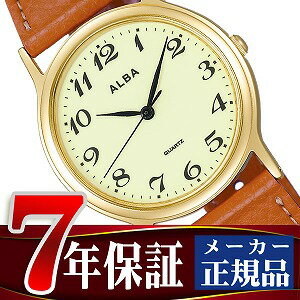 Seiko Alba standard Palmach men's watch light green × brown AIGN001