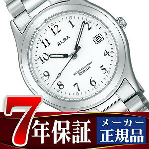 SEIKO Aruba standard screw lock-type men watch white X silver AIGT016