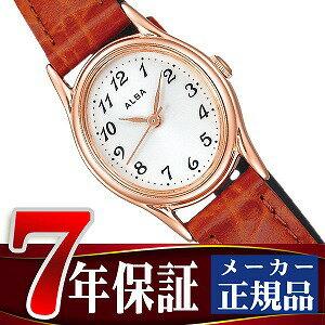 【SEIKO ALBA】セイコー アルバ スタンダード レディース 腕時計 ホワイト×ピンクゴールド×ブラウン AIHK004 【正規品】