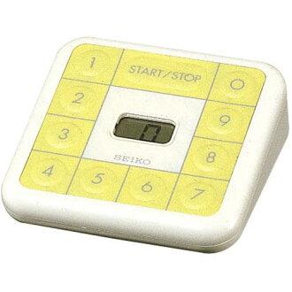 精工 PIP 計時器廚房計時器白 × 黃色 MT601C