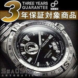 セイコースーペリア men's automatic self-winding hand-wound watch black dial stainless steel belt SSA091K1
