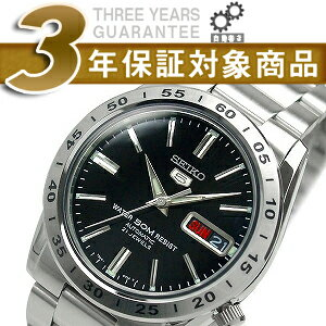 5 SEIKO SEIKO five self-winding watch men watch black dial silver stainless steel belt SNKE01K1