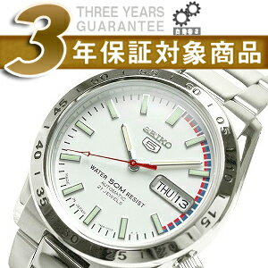 Seiko 5 セイコーファイブ automatic self-winding men's watch White Dial metal belt SNKE07J1