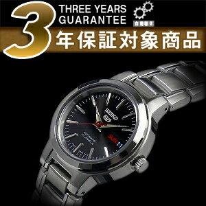 Seiko 5 automatic winding hand winding type ladies watch black dial metal belt SYME43K1